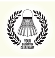 Badminton silhouette club logo vector image