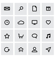 black universal icon set vector image