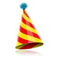 Colorful Glossy Hat For Celebration vector image