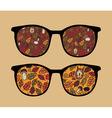 Patterned Glasses vector image