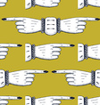 Pointing fingers seamless pattern vector image