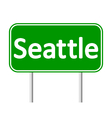 Seattle green road sign vector image