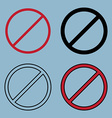 stopban sign icon set vector image