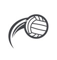 Swoosh volleyball logo icon vector image