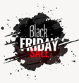 black friday sale grunge style label design vector image
