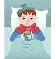 Sick boy vector image