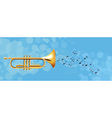 The golden trumpet vector image vector image