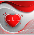 heart shape on the abstract colorful background vector image