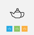of cook symbol on teapot vector image