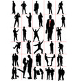 people silhouettes men women pair couple vector image vector image
