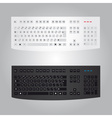 black and white computer keyboard eps10 vector image