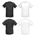 White and black T-shirt design template vector image