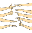 vector human hands isolated vector image vector image