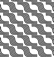 Black and white striped ribbons diagonal vector image