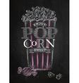Poster popcorn sweet black vector image