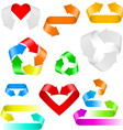 color arrows set of icons on white background vector image vector image