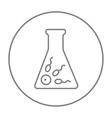 In vitro fertilisation line icon vector image vector image