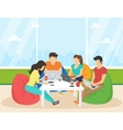 Group of creative people using smartphone laptop vector image