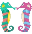 Colorful Seahorses vector image