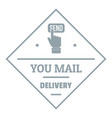 delivery logo simple gray style vector image
