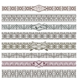 Ethnic native american border patterns vector image