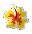 hawaii cute flower icon vector image