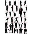 people silhouettes men women pair couple vector image