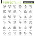 pet friend thin line web icons set pet shop vector image