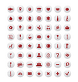 restaurant and map icons vector image