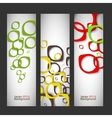 Set abstract style background vector image