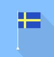 Swedish flag vector image