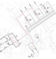technical blueprint of steamshop vector image