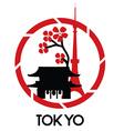 Tokyo logo vector image
