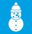 snowman icon white vector image