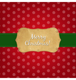 Vintage Red Merry Christmas Label vector image vector image