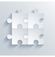 modern puzzle icon Eps 10 vector image