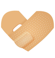 First aid band folded heart vector image