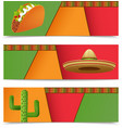 Mexican Banners Horizontal vector image
