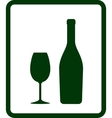 Champagne icon with bottle and glass vector