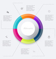 colorful info graphics for your business vector image