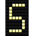 scoreboard letter icon vector image