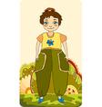 girl little meadow vector image