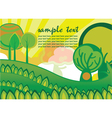 easter background with trees vector image vector image