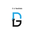 Creative G- letter icon vector image