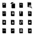 black schoolbook icon set vector image vector image