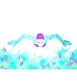 Breaststroke Swimmer Female Silhouette Sport vector image