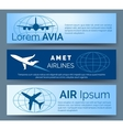 Airlines company headers set vector image