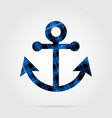 blue black tartan isolated icon - boat anchor vector image