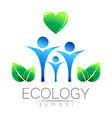 ecology symbol sign with vector image