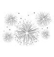 Fireworks Black and White vector image